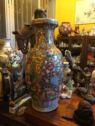 景德鎮150件金萬花花瓶