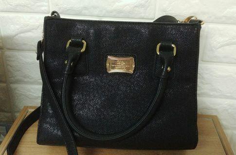 ✨ans bag / leather black /✨90% New