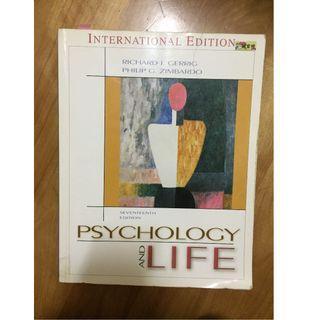 【心理學教科書】Psychology and Life by Richard J. Gerrig,  Philip G. Zimbardo 17th edition