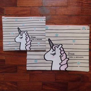 Unicorn Canvas Pouch Organizers