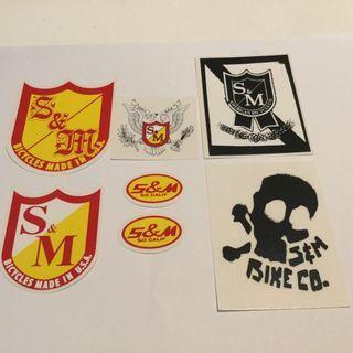 S&M Bikes stickers