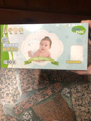 🚚 nac nac嬰兒超柔細紗布毛巾80張入