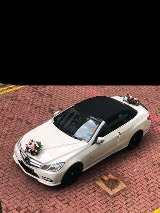 Mercedes white sports car convertible 4 seater Long term rent/ wedding/ photoshoot