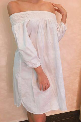 Cotton-On White Off-Shoulder Dress