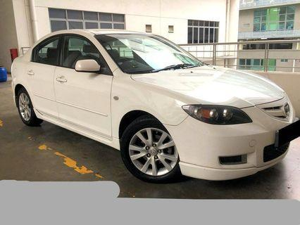 Promotion New Arrival Mazda 3 1.6A for daily weekly monthly Long term rent cheap cheapest