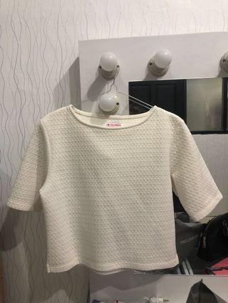 Colorbox Crop Top White size S