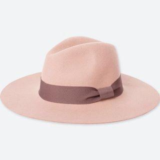 Uniqlo Women Wool Wide Brim Fedora Hat