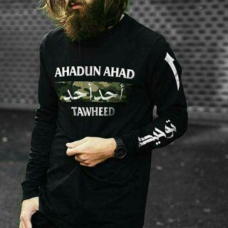 Baju muslim lengan panjang combed 30 s ukuran L dan XL