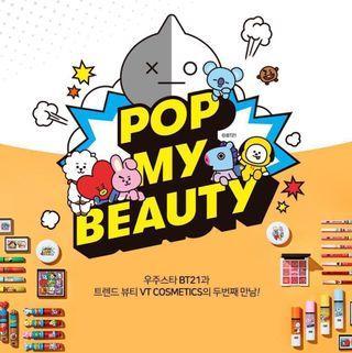[GO] BT21 x VT Cosmetics Pop My Beauty Range