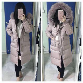 (REAL FUR TRIM) Winter Jacket Down Coat