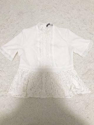 Zara White Lace Top #SwapAU