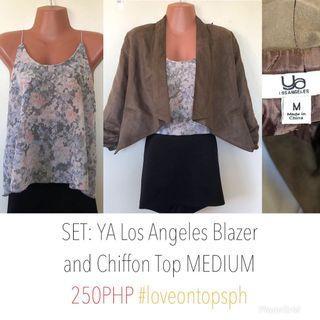 SET: Chiffon Top and BNWT Ya Los Angeles Blazer