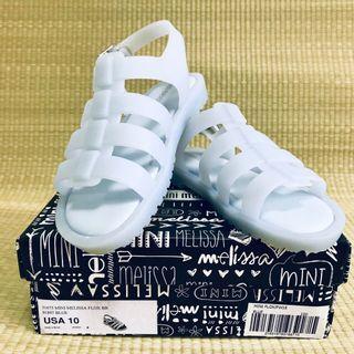 🚚 BN Mini Melissa Flox Blue Sandals Shoes US10 (2016)
