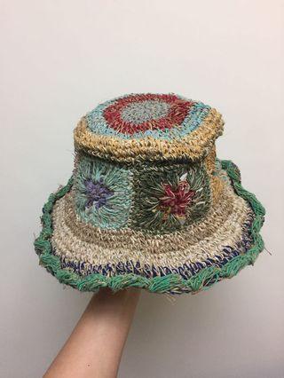 🚚 波希米亞風 編織麻線帽 民族風 沙灘 度假 帽子