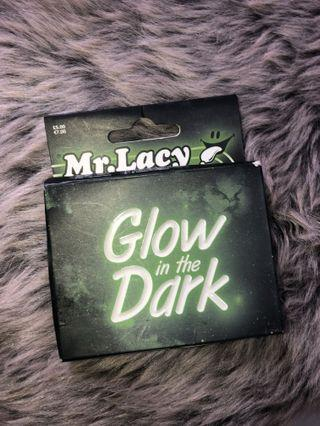Mr Lacy Flatties White Laces Glow in the Dark