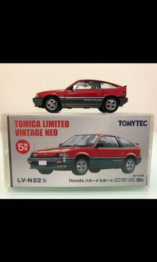 Tomica Vintage Neo tomytec 1:64 N22b Honda CR-X Si 5周年 香港罕見 美車