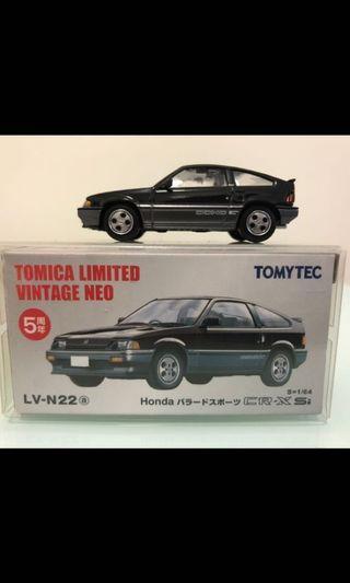 Tomica Vintage Neo tomytec 1:64 黑色 N22a Honda CR-X Si 5周年 香港罕見 美車