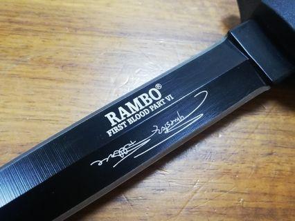 正版 Rambo IV First Blood 求生刀,露營刀,刺刀,军刀,戰術刀。