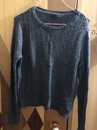 灰色針織冷衫