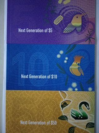 Australia new generation AUD5,10&50 banknotes in folders