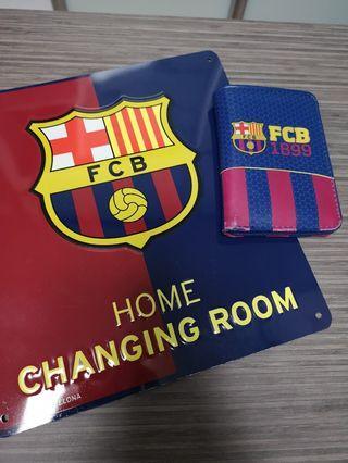 FCBARCELONA door sign and wallet #ENDGAMEyourEXCESS