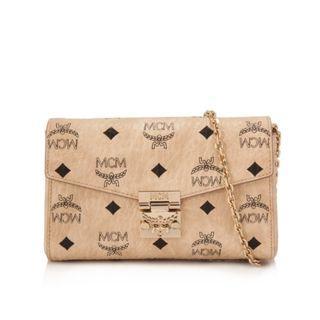 MCM Millie Visetos Flap Small Crossbody Bag