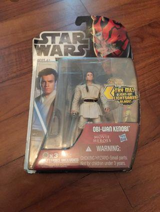 BNIB Star Wars Anakin Skywalker and Obiwan-Kenobi figurines