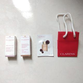 Clarins 3 in 1 sample packs