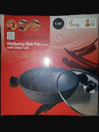 K Art Induction Wellbeing Wok Pan ( 32cm )