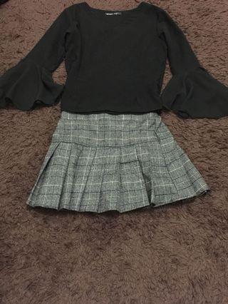 new ya sis , skirt tartan.pinggang ada karet.