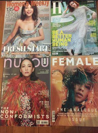 Brand new 3 Female, Nuyou, Women's Weekly magazines Jan 2019