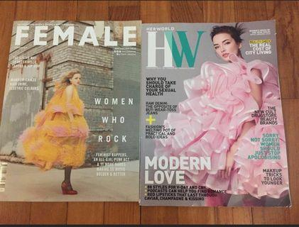 Her World and Female Magazines Feb 2019
