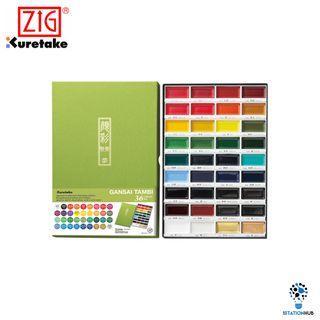 Zig Kuretake Gansai Tambi Watercolour | 36 Colour Set [KU-ZMC20/36V]