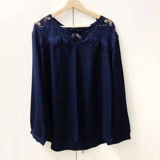 Plus Size Navy Blue Top #SnapEndGame