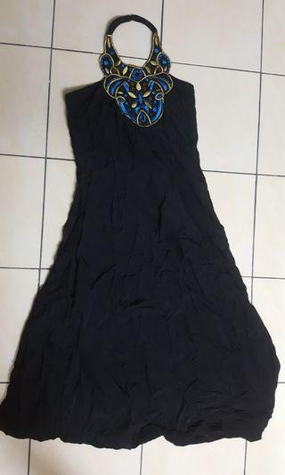 Black dress halter neck