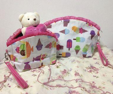 A set of 2 - travel bag/ cosmetic bag