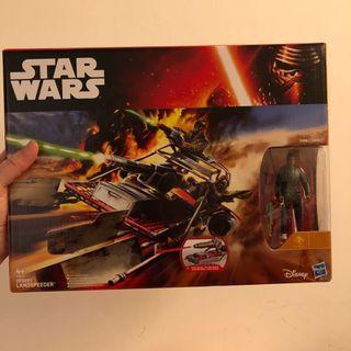 Star Wars Desert Landspeeder with Finn