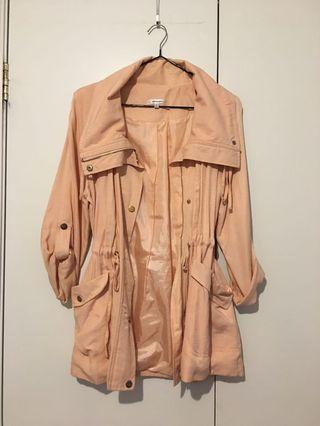 Peach Pink Drench Coat