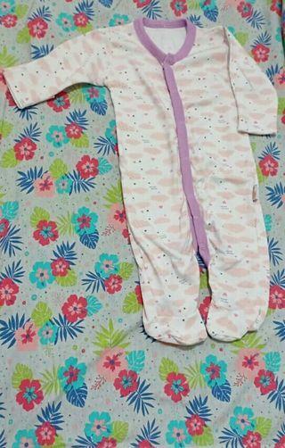 Sleepsuit velvet pink