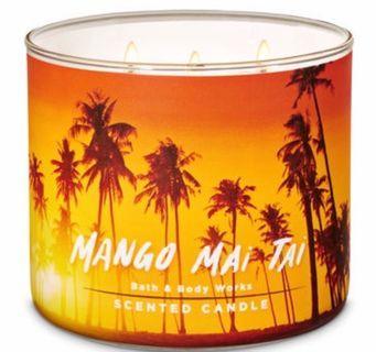 Bath & Body Works Candle - Mango Mai Tai 3 wicks candle