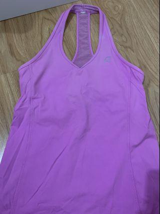 Pink sport gym top