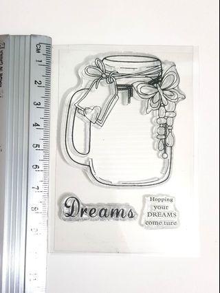 Clear stamp set - Jar of Dreams