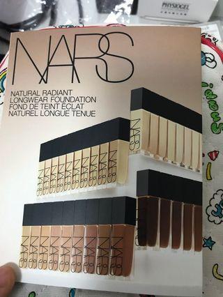 NARS foundation 4色試用 包平郵