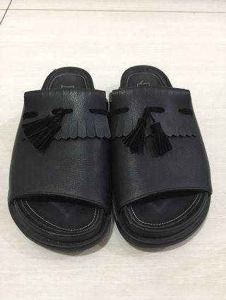 Proudly Black Tassels Sandals