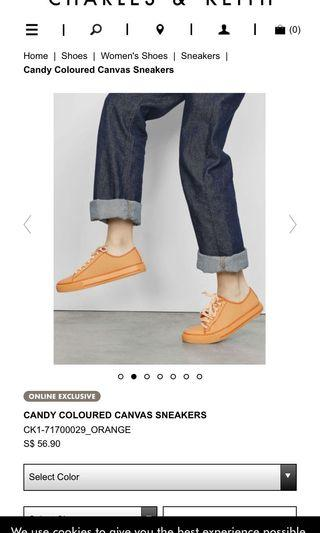 CANDY COLOURED CANVAS SNEAKERS