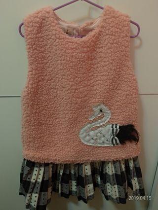 🚚 二手女童背心裙 約110~120cm