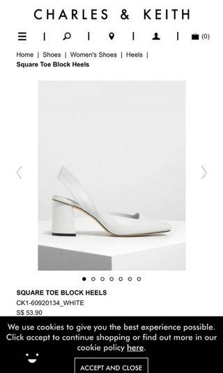 SQUARE TOE BLOCK HEELS