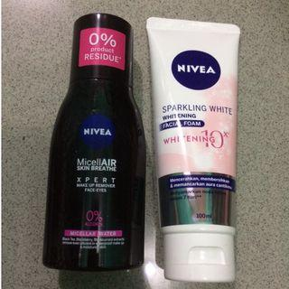 Take it All!! Micellar Water Nivea&whitening facial foam!!!