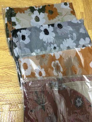 Clearance sale ‼️ pleated printed shawl