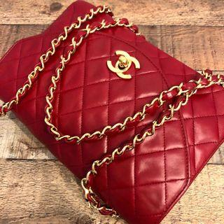 84f2f2258f76 Authentic Chanel Wine Red Single Flap Classic Crossbody Bag w 24k Gold  Hardware